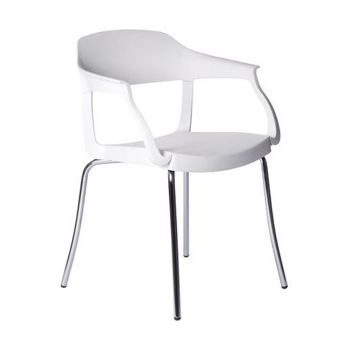 Krzesło Evo Strass P Green białe, kolor biały