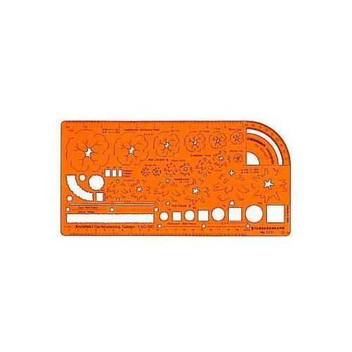 Szablony techniczne Szablon architektoniczny - zieleń 1:50/1:100 x1