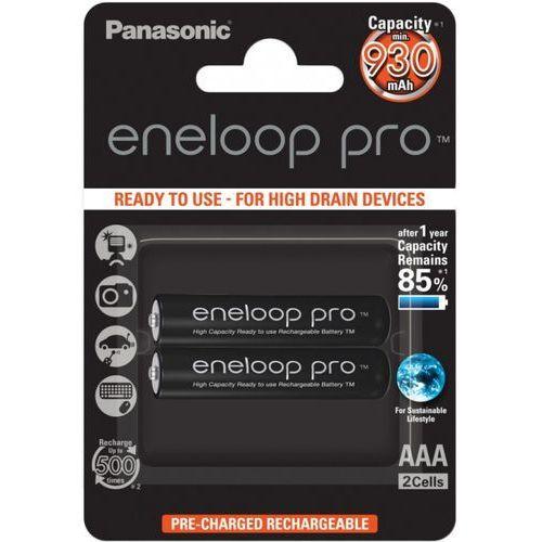 Panasonic 2 x akumulatorki  eneloop pro r03 aaa 950mah bk-4hcde/4be (blister) (5410853057185)