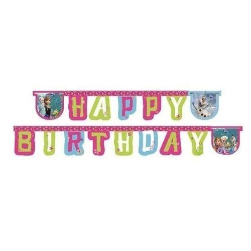 Baner urodzinowy Happy Birthday Frozen - Kraina Lodu - 215 cm - 1 szt. (5201184846292)