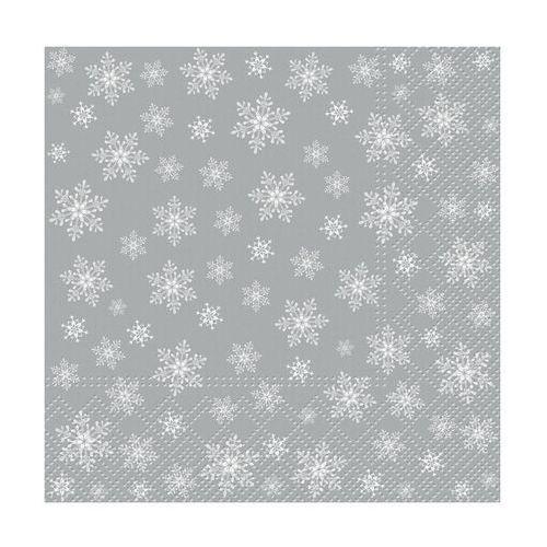 Serwetki świąteczne stars everywhere srebrne 33 x 33 cm 20 szt. marki Paw decor