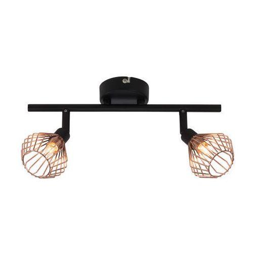 Lampa punktowa Brilliant 21013/76 G9, (DxSxW) 31.5 x 17 x 20 cm, czarny, miedź