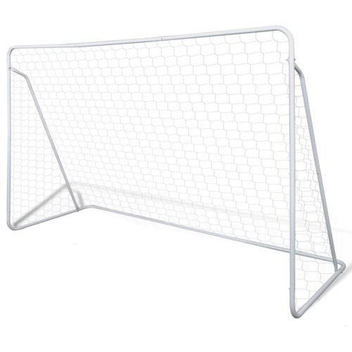 stalowa bramka do piłki nożnej 240 x 90 150 cm wyprodukowany przez Vidaxl