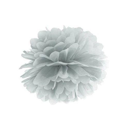 Ap Dekoracja wisząca pompon kwiat - srebrna - 35 cm - 1 szt. (5902230798502)