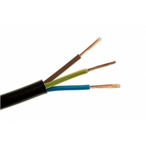 przewód omy h03vv-f 3x0,75mm przewód czarny marki An