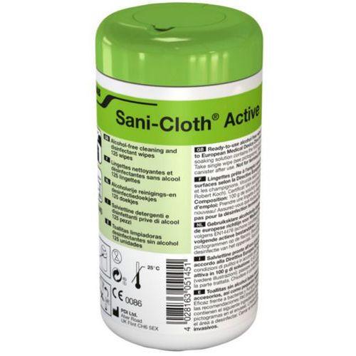 Sani-Cloth Active Ecolab dezynfekcyjno-myjące chusteczki bezalkoholowe 125 szt.