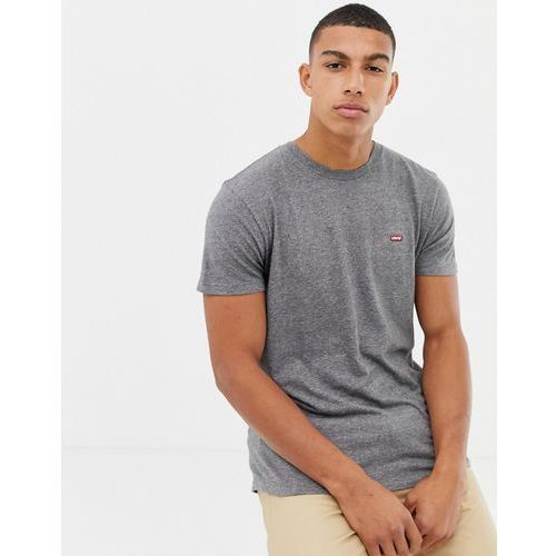 Levi's small batwing patch logo t-shirt in grey marl - Grey