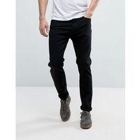 Burton Menswear Tapered Fit Jeans In Black - Black, jeansy