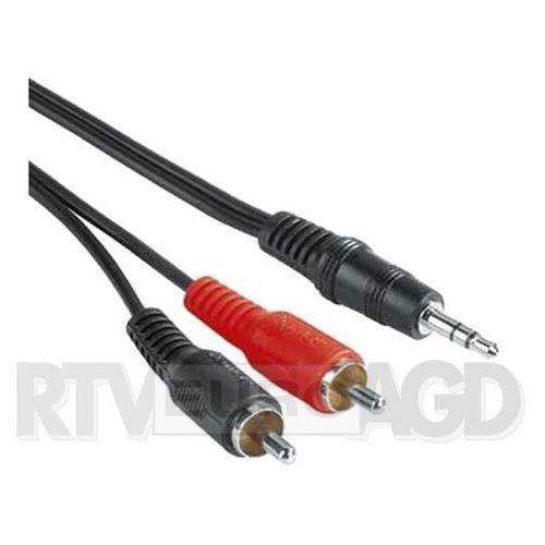 Kabel Hama Minijack 3.5 - RCA (Cinch) x2 2m Czarny (30455) Darmowy odbiór w 21 miastach! (4007249304551)
