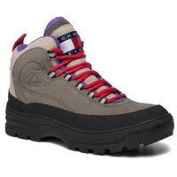 Kozaki - hilfiger expedition mens boot em0em00301 dusty olive ldy, Tommy jeans, 40-46