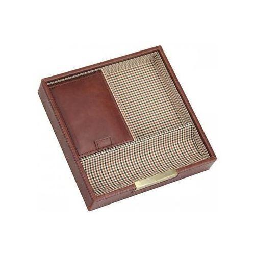 Stackers Pudełko na spinki i zegarki pojedyncze karmelowe kratka (5013648029475)