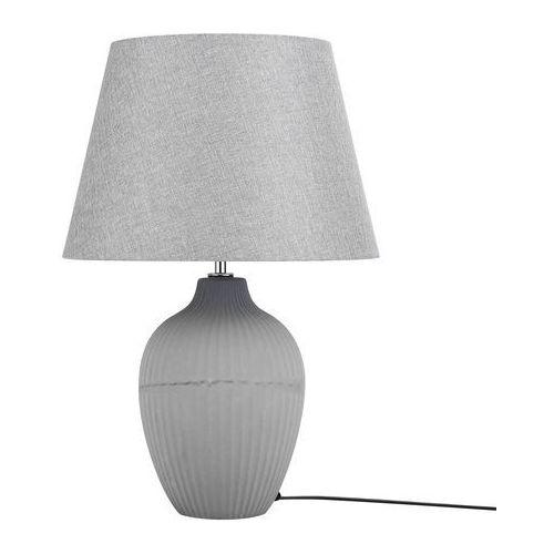 Lampa stołowa szara fergus ii marki Beliani