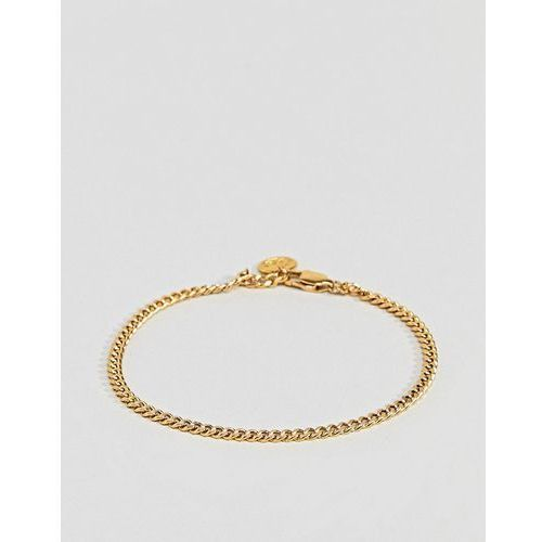 curb chain bracelet in gold - gold marki Mister
