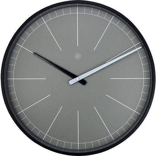Nextime Zegar ścienny szary gray nxt 40 cm (7328 gs) (8717713025047)