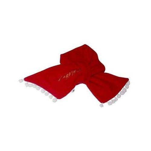 Doggy dolly szalik dd x'mas, czerwony, xs 18-20 cm/31-33 cm - darmowa dostawa od 95 zł!