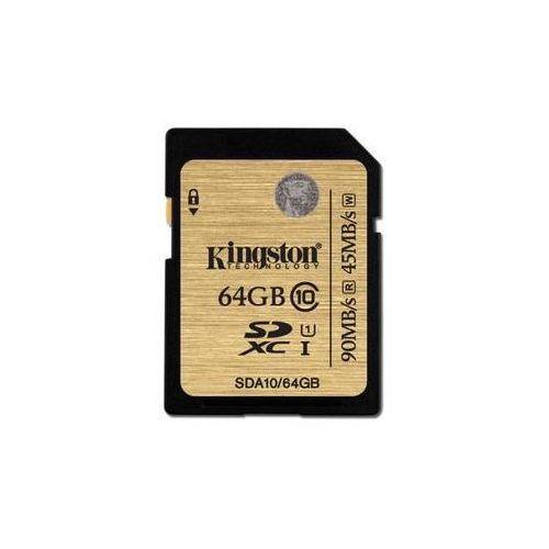 Kingston Karta pamięci sdxc 64gb uhs-i u1 (90r/45w) (sda10/64gb)