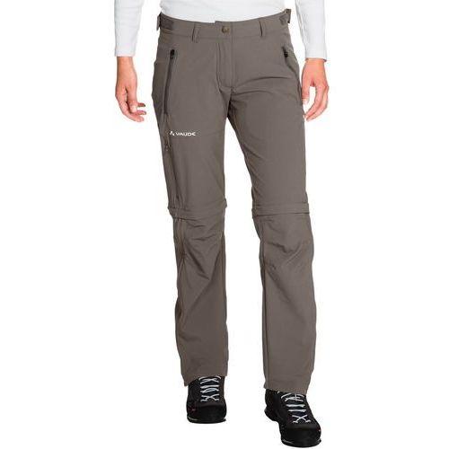 VAUDE Farley Spodnie długie Kobiety szary 46-krótkie 2018 Spodnie z odpinanymi nogawkami, kolor szary