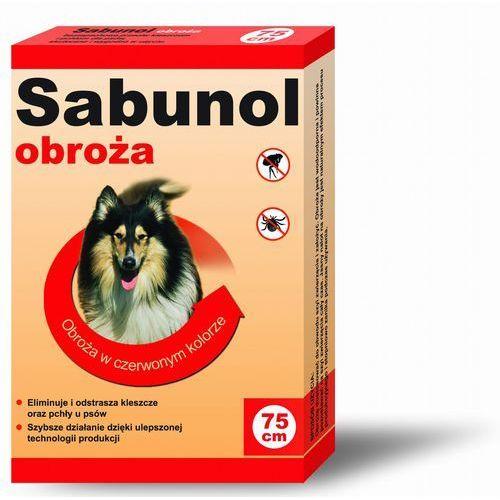Obroża czerwona przeciw pchłom i kleszczom Sabunol 75 cm - 5901742001285