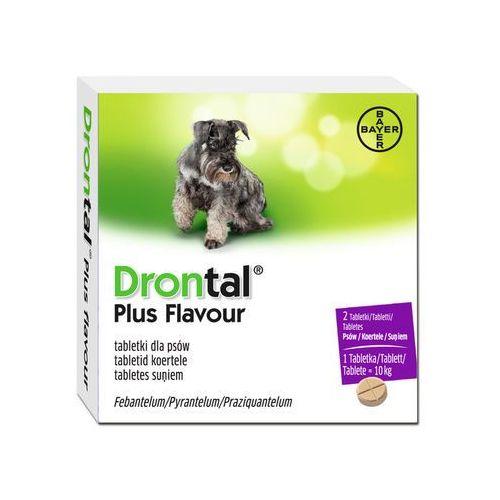 Bayer drontal plus flavour dla psów 2tabl. - środek przeciwpasożytniczy (5909990050529)