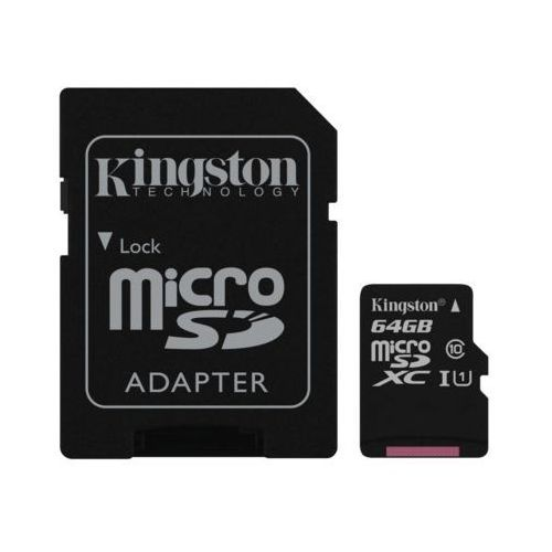 Karta pamięci canvas select microsdxc 64gb + sd adapter marki Kingston