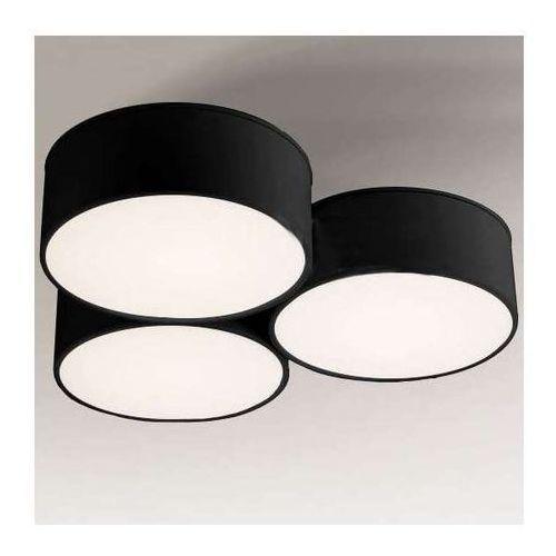 Plafon lampa sufitowa zama 1133/gx53/cz natynkowa oprawa okrągła czarna marki Shilo