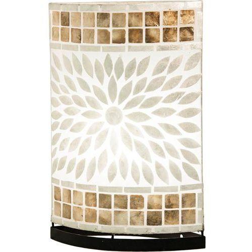 Lampa stołowa lampka biurkowa Globo Bali 1x40W E27 beżowy/brąz 25826T