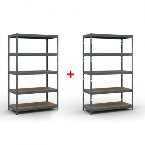 B2b partner Regał półkowy 2000 x 1200 x 600 mm, nośność 280 kg 1+1 gratis