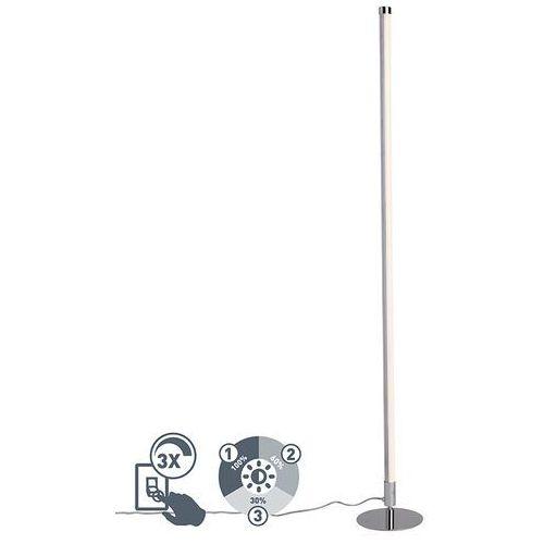 Nowoczesna lampa stojąca LED chrom - Line-up