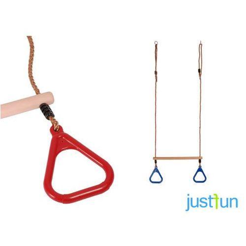Trapez z trójkątnymi obręczami - czerwony marki Just fun