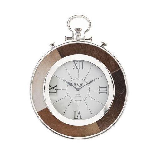 zegar ścienny agathe 46x5,5x59cm, 46 × 5,5 × 59 cm marki Dekoria