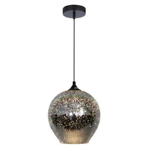 Lampa wisząca zwis żyrandol Candellux Galactic 2 1x60W E27 szary, srebrny 31-51295