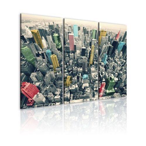 Obraz - Nowy Jork - czarno-biały, lecz w kolorze