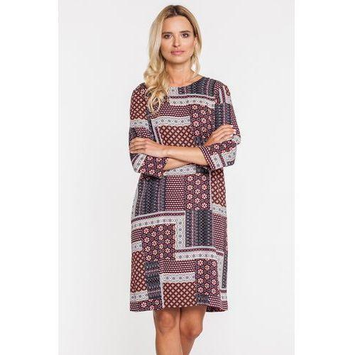 Bialcon Zwiewna sukienka w tureckie wzory -