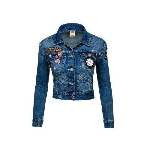Kurtka jeansowa damska granatowa Denley 5164, jeansowa