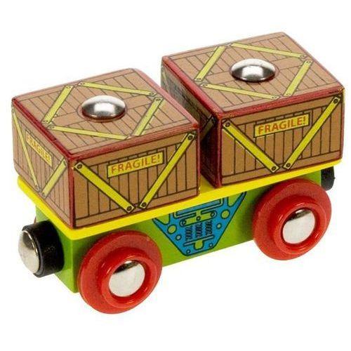 Wagon ze skrzyniami do zabawy, wyposażenie kolejek drewnianych bigjigs marki Bigjigs toys