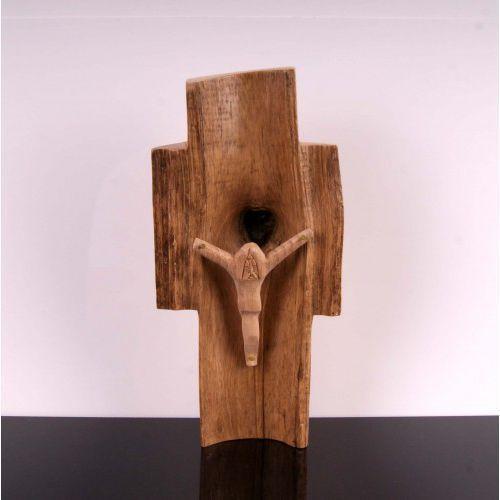 Praca w starym drewnie Chrystus Ukrzyżowany