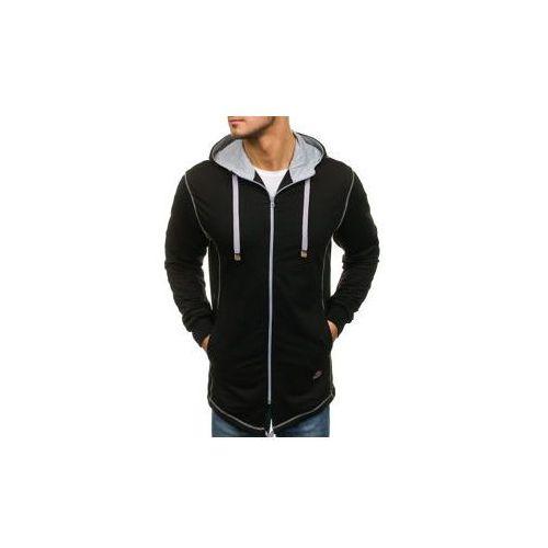 Bluza męska z kapturem rozpinana czarna denley 0363 marki Athletic