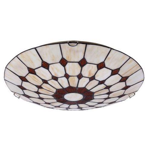 Plafon lampa sufitowa Rabalux Marvel 2x60W E27 brąz 8091 (5998250380919)
