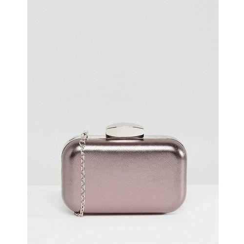 Claudia canova silver hardcase clutch - silver