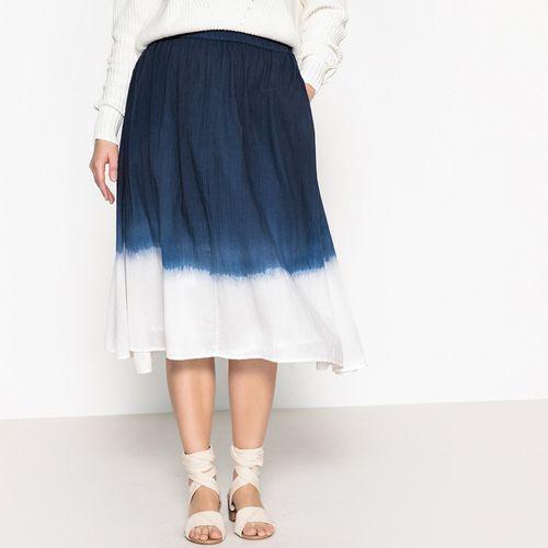 Długa rozszerzana spódnica z nadrukiem tie and dye, Castaluna