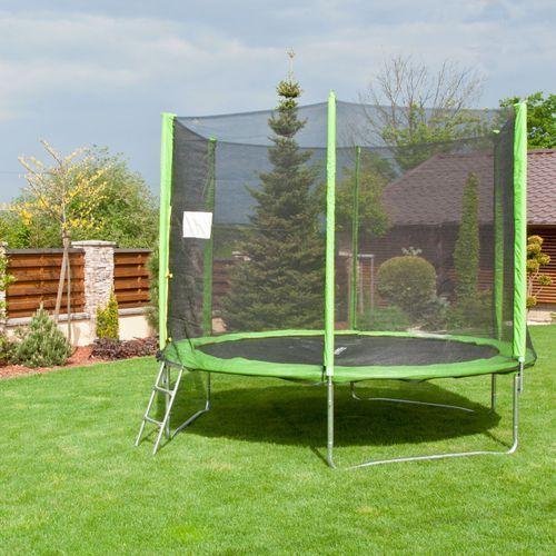 Zestaw trampolina 3w1 insportline froggy pro 305 cm marki - black friday -