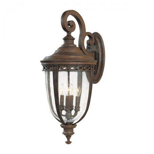 Zewnętrzna LAMPA wisząca ENGLISH BRIDLE FE/EB8/M BRB Elstead FEISS OPRAWA ogrodowa ZWIS IP23 outdoor brąz, FE/EB8/M BRB