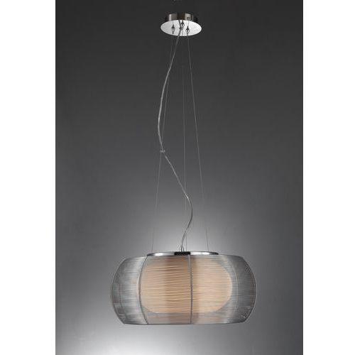 Lampa wisząca TANGO silver 40cm siatka MD1104-2 (SILVER), kolor Srebrny