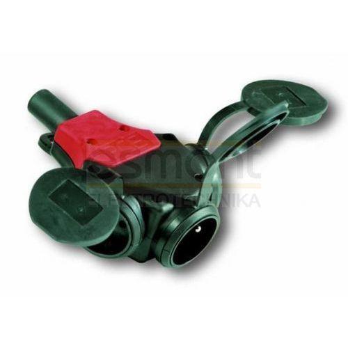 Rozgałęźnik jednofazowy potrójny gumowy 2P+Z 10/16A 230V IP44 TAURUS 24311-sw PCE