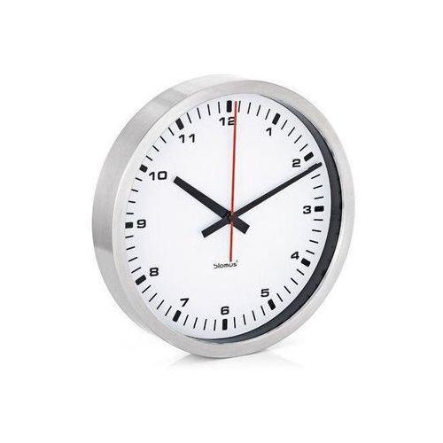 Zegar ścienny Era Blomus biały 40cm (B63211), kolor czerwony