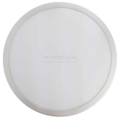 Eko-light Plafon lampa sufitowa ek743 ścienna oprawa kinkiet led 18w 3000k okrągły ip65 srebrny biały vento 1 (1000000445404)