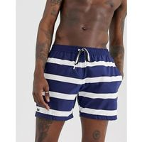 Lacoste stripe swim shorts in navy - Navy, kolor szary