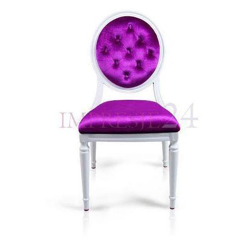Krzesło royal, wymienne obicie, fioletowy welur, rama aluminiowa. marki Design by impresje24