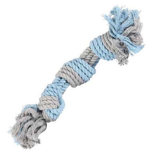 Little rascals Sznur bawełniany dla psa 3 knot tugger w rozmiarze large