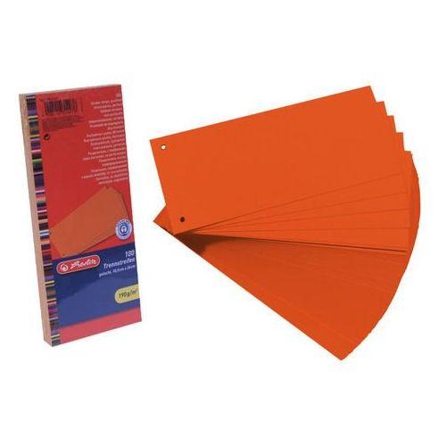 Herlitz Przekładki 1/3 a4 kartonowe pomarańcz eco (100szt